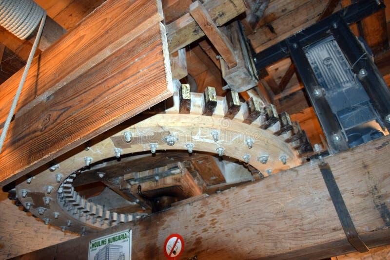 Dentro di Flourmill de Haas in Benthuizen immagini stock libere da diritti