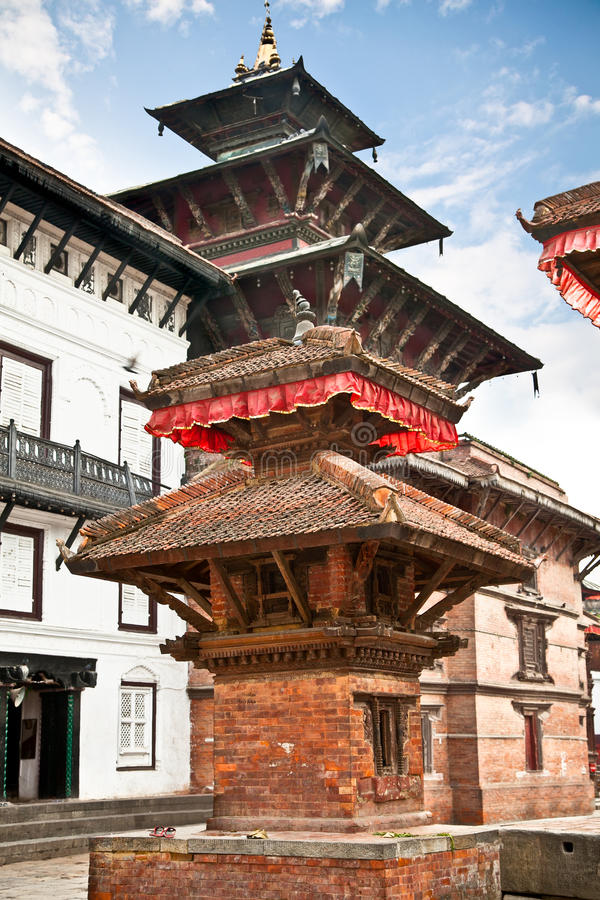 Dentro di Hanuman Dhoka, vecchio Royal Palace a Kathmandu, Nepal. immagini stock