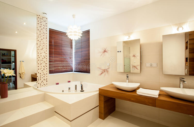 Dentro do banheiro fotografia de stock royalty free
