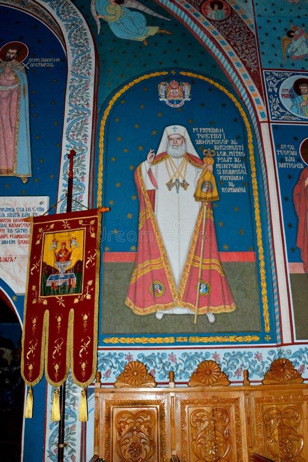Dentro do churchl do monastério Sambata, Fagaras imagens de stock royalty free
