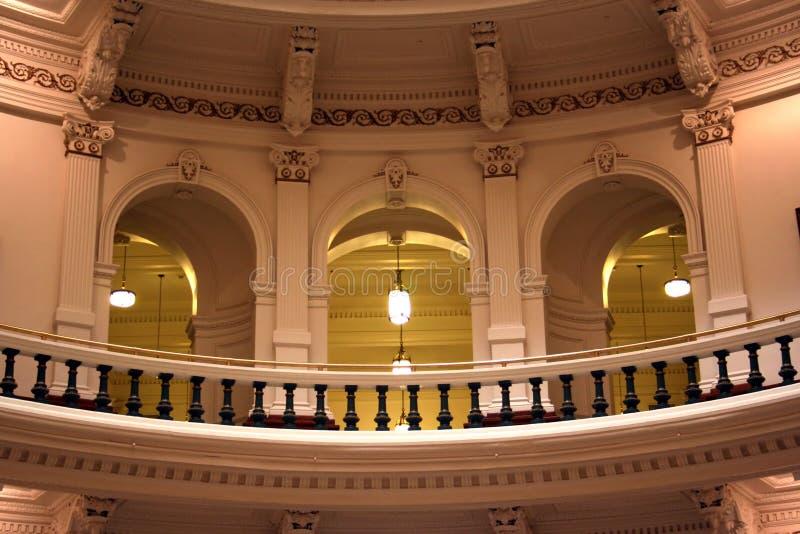Dentro do edifício do Capitólio do estado em Austin da baixa, Texas imagens de stock royalty free