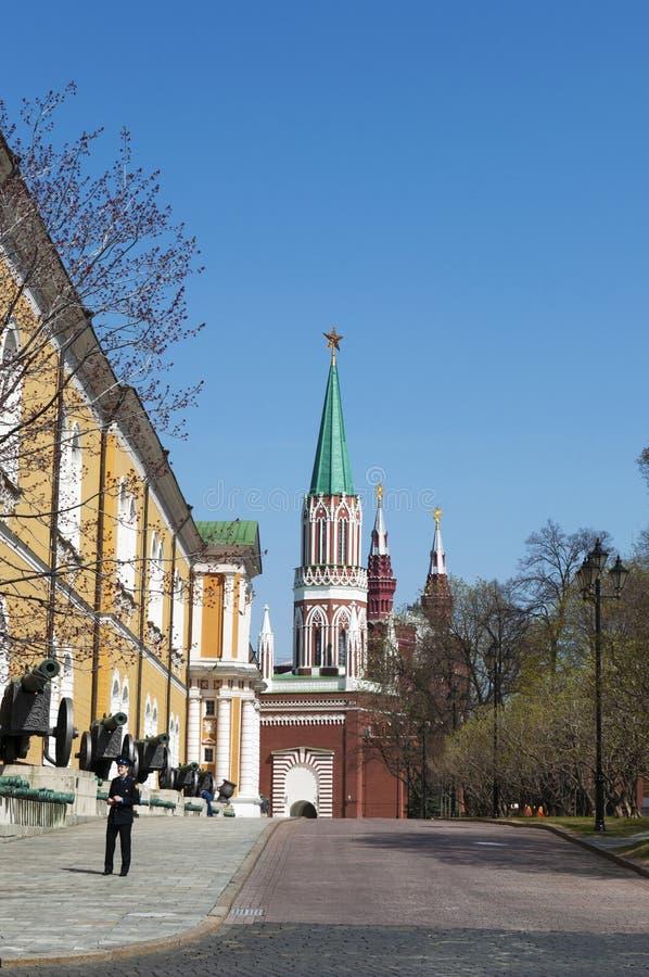Dentro do Kremlin de Moscou, Moscou, cidade federal do russo, Federação Russa, Rússia foto de stock royalty free