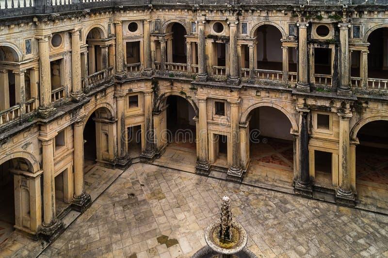 Dentro do monastério de Tomar, Portugal fotos de stock royalty free