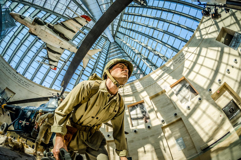Dentro do Museu Nacional do Corpo dos Marines foto de stock