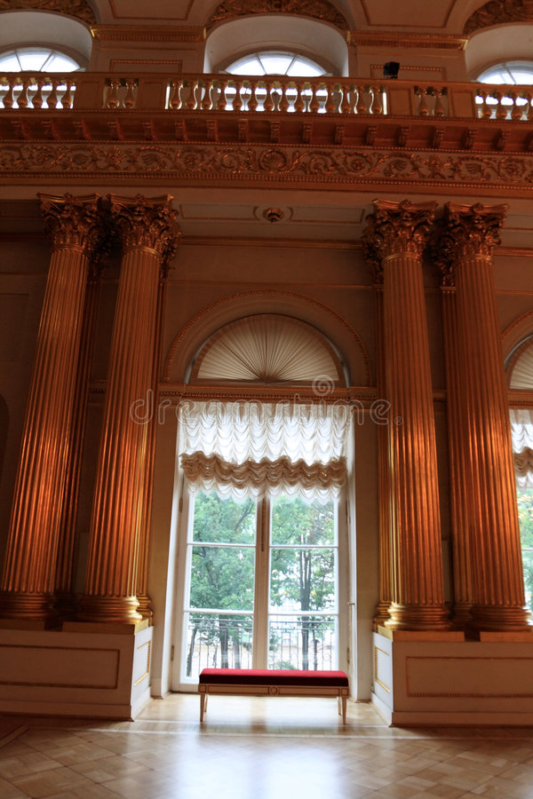 Dentro do palácio fotos de stock royalty free