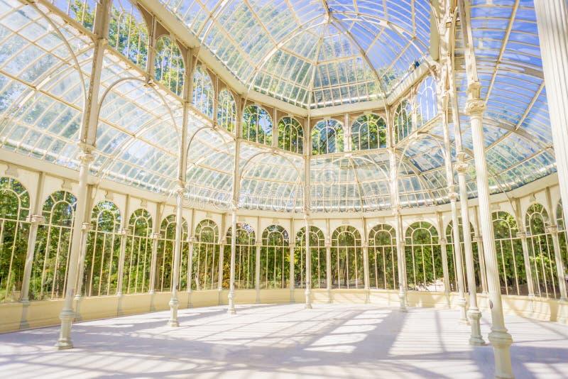 Dentro do palácio de cristal foto de stock