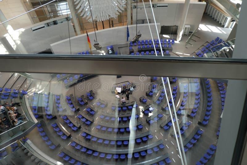 Dentro do parlamento Berlin Germany de Bundestag imagem de stock