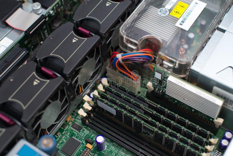 Dentro do PC do servidor imagens de stock royalty free