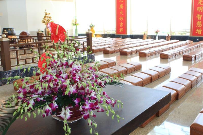Dentro do templo imagens de stock royalty free