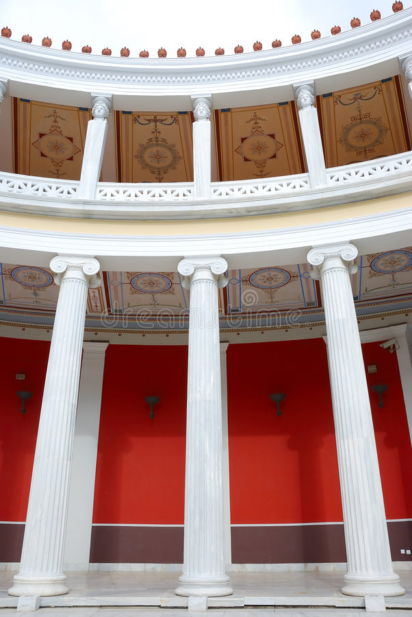 Dentro do zappeion, Atenas imagem de stock