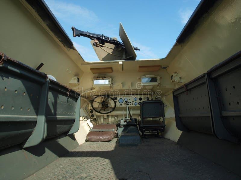 Dentro il carro armato fotografia stock libera da diritti