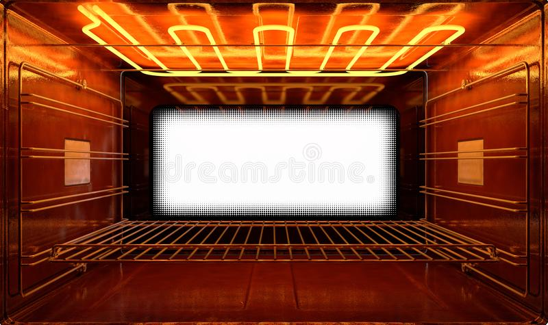 Dentro il forno illustrazione di stock