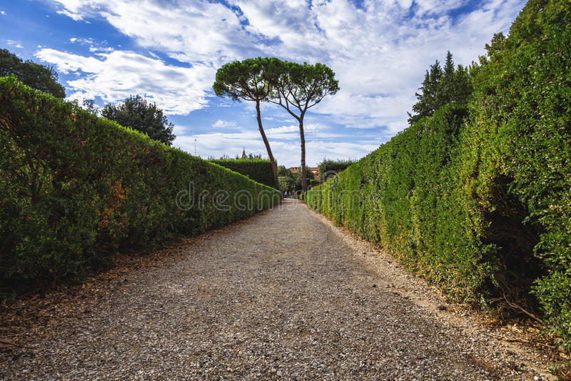 Dentro il giardino di Boboli fotografie stock