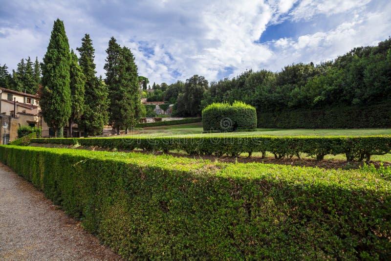 Dentro il giardino di Boboli immagini stock
