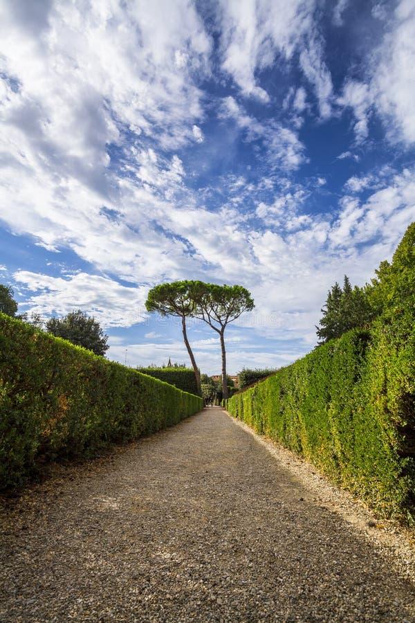 Dentro il giardino di Boboli fotografie stock libere da diritti