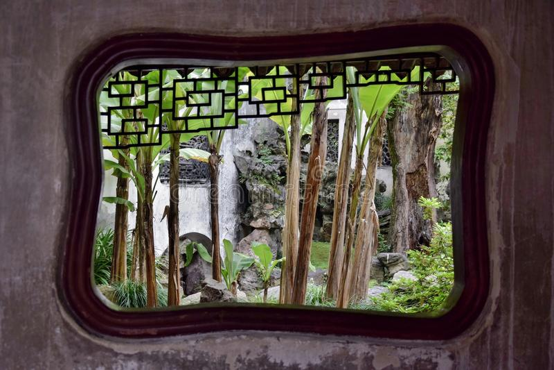 Dentro il giardino di Yu a Shanghai fotografie stock libere da diritti