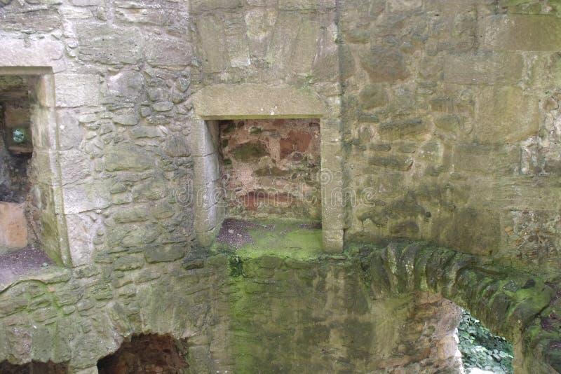 Dentro il lago leven il castello fotografie stock libere da diritti
