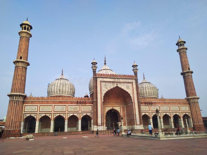 Dentro il masjid di jama fotografie stock