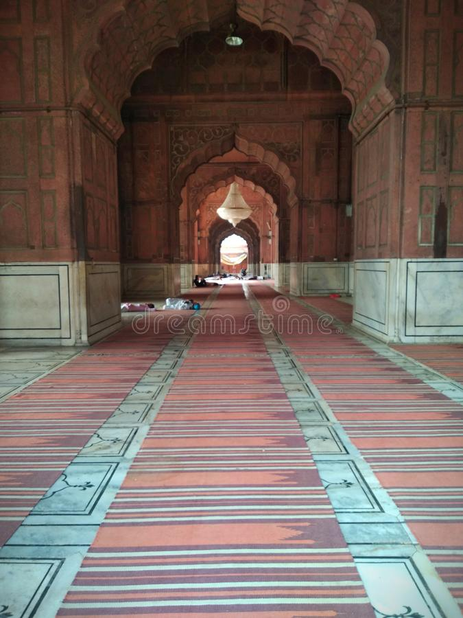 Dentro il masjid di jama fotografie stock libere da diritti