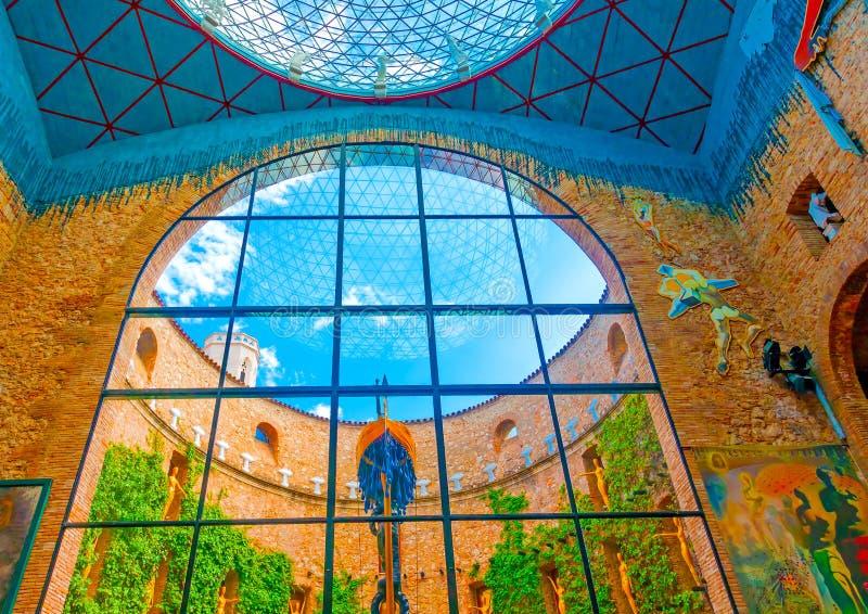 Dentro il museo di Dali fotografia stock