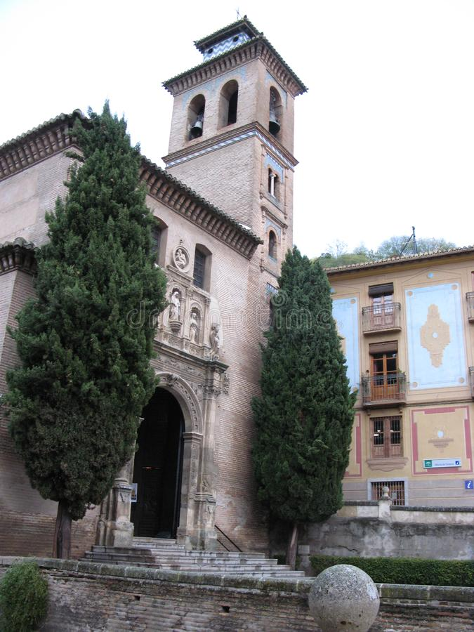 Dentro il palazzo di Alhambra fotografie stock