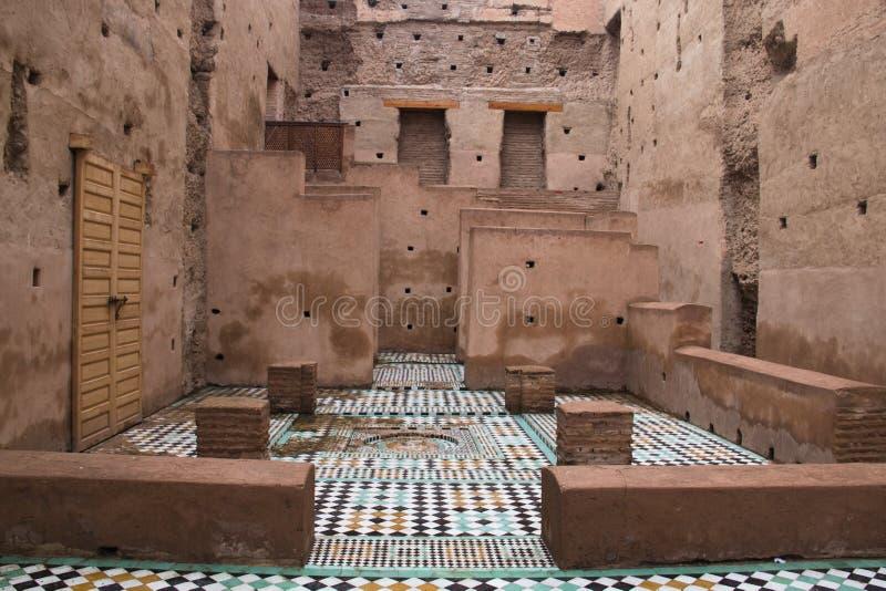 Dentro il palazzo di Bab Agnaou a Marrakesh, il Marocco fotografie stock libere da diritti