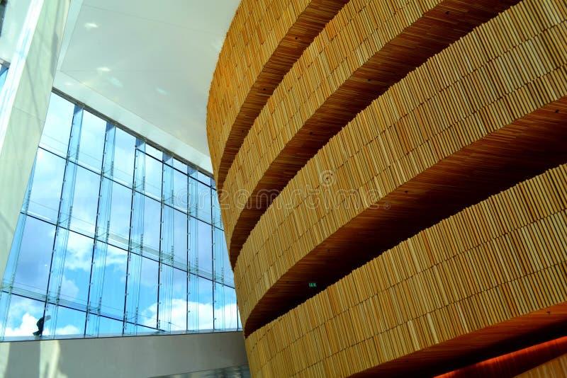 Dentro il teatro dell'opera di Oslo fotografie stock libere da diritti