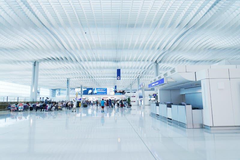 Dentro l'aeroporto di Hong Kong fotografia stock libera da diritti