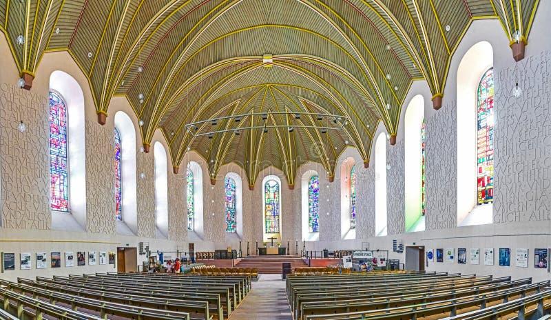 Dentro la chiesa luterana in vermi immagini stock
