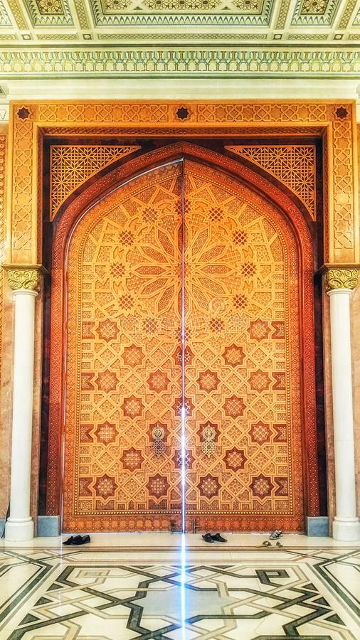 Dentro la moschea di Turkmenbashi Ruhy, Asgabat, il Turkmenistan fotografia stock