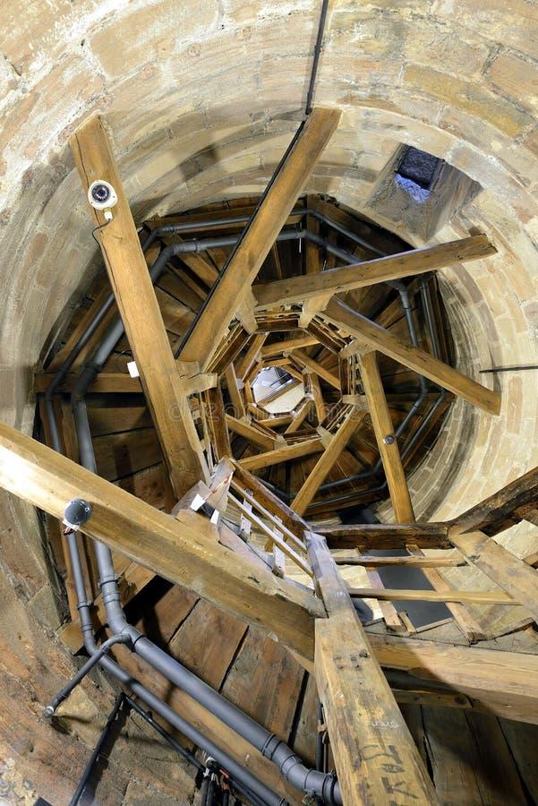 Dentro la torre medievale del castello di Norimberga immagine stock libera da diritti