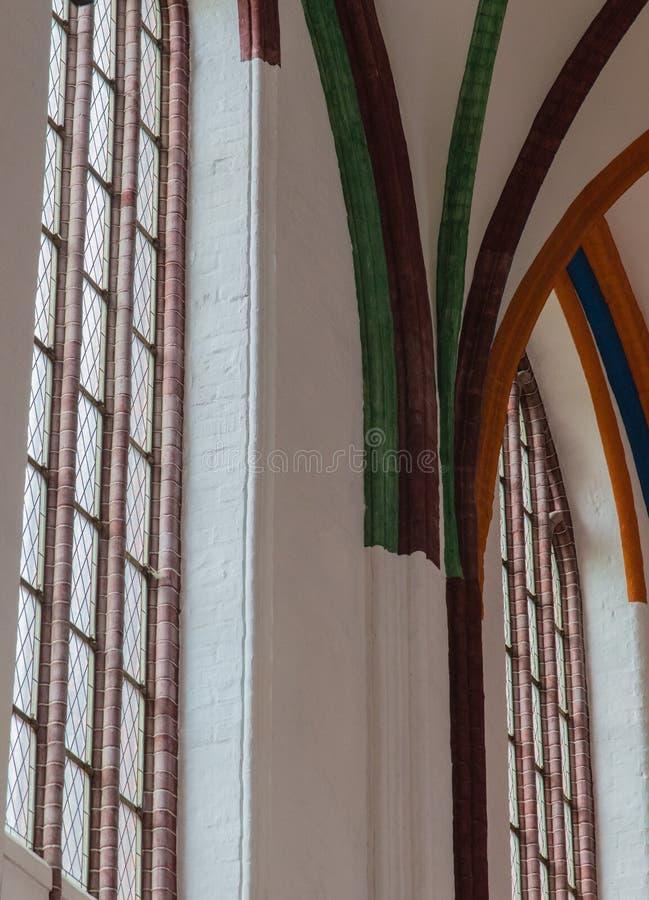 Dentro Nikolai Kirche fotografia stock libera da diritti