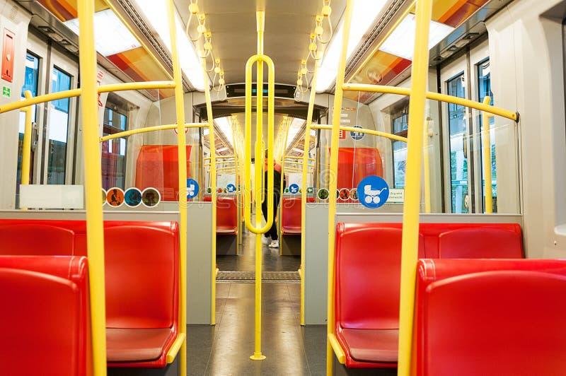 Dentro un trasporto della metropolitana a Vienna immagine stock libera da diritti