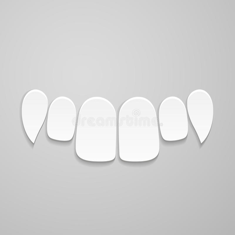 Dents avant supérieures illustration libre de droits
