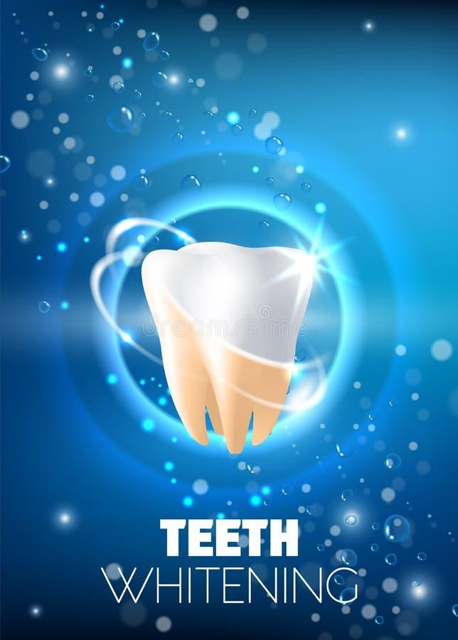Dents blanchissant l'illustration réaliste de vecteur d'annonce illustration stock