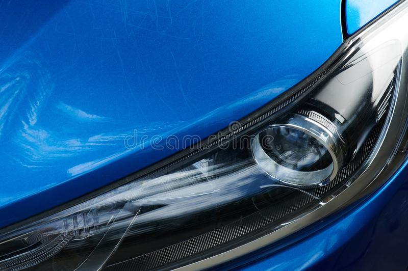 Dents on car paint royalty free stock images