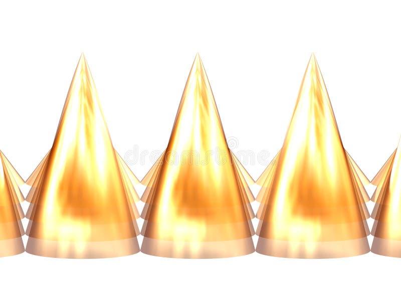 Dents d'or 5 illustration libre de droits