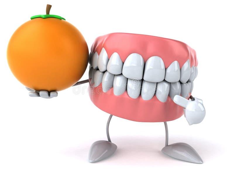 Dents d'amusement illustration stock