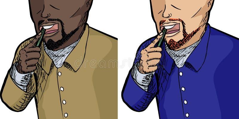 Dents de brossage illustration de vecteur