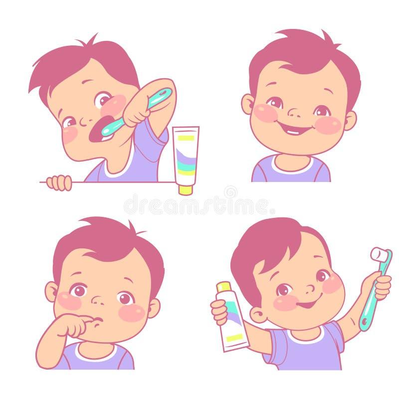 Dents de lait réglées illustration libre de droits