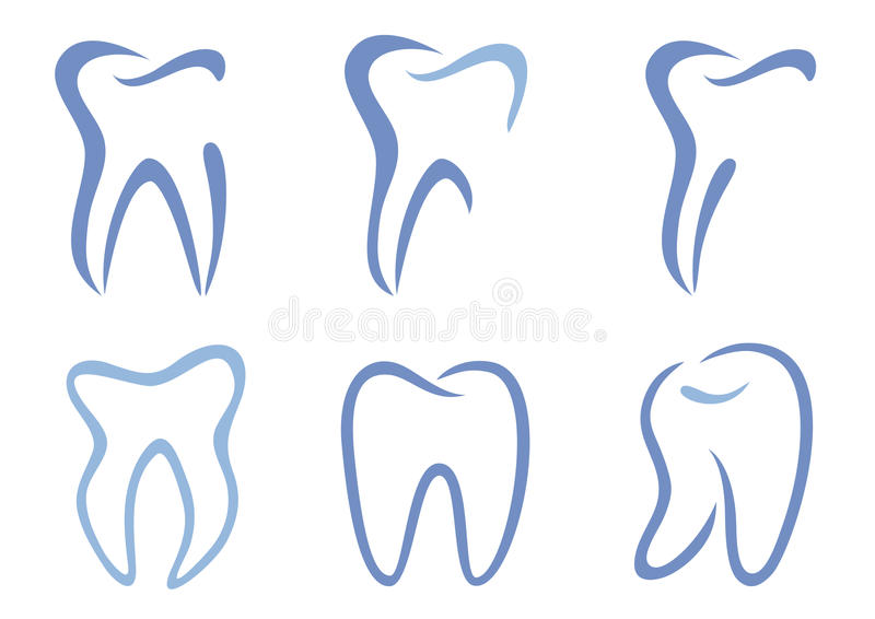 Dents de vecteur illustration stock