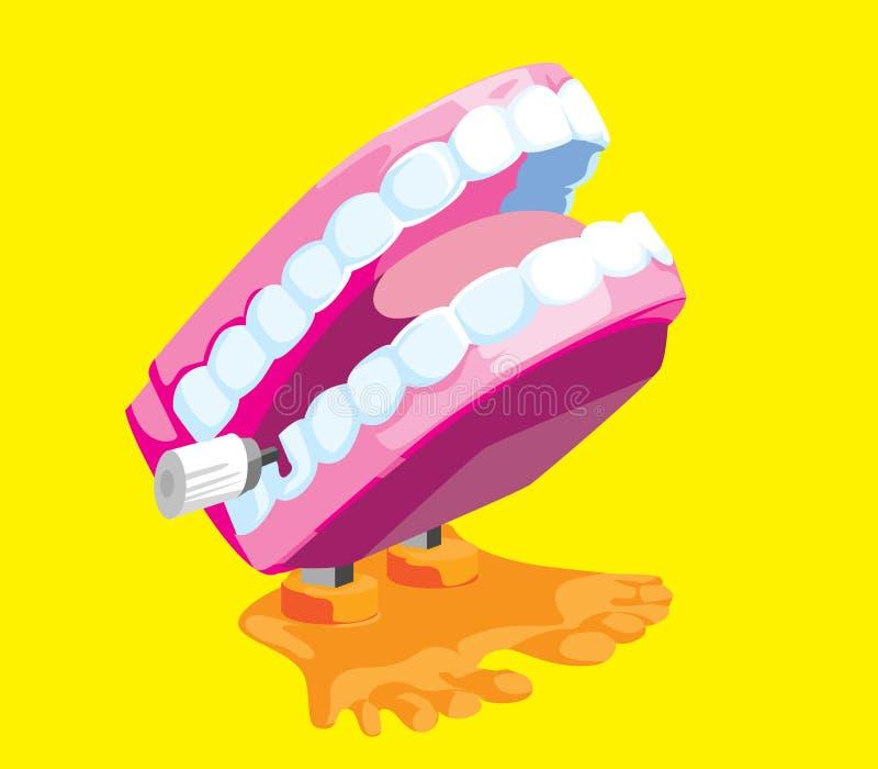 Dents de vibration de nouveauté illustration de vecteur