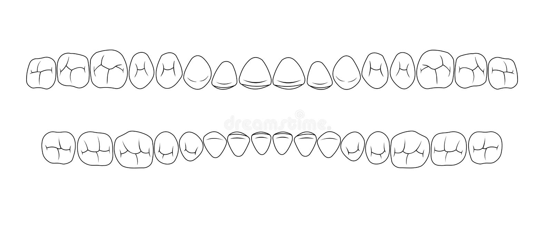 Dents des fissures illustration de vecteur