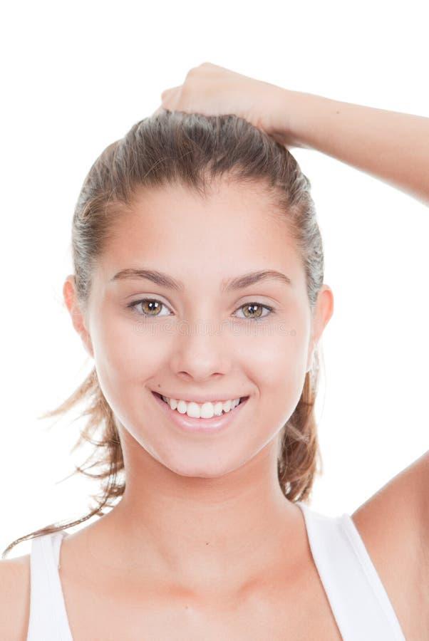 Dents droites blanches parfaites image libre de droits