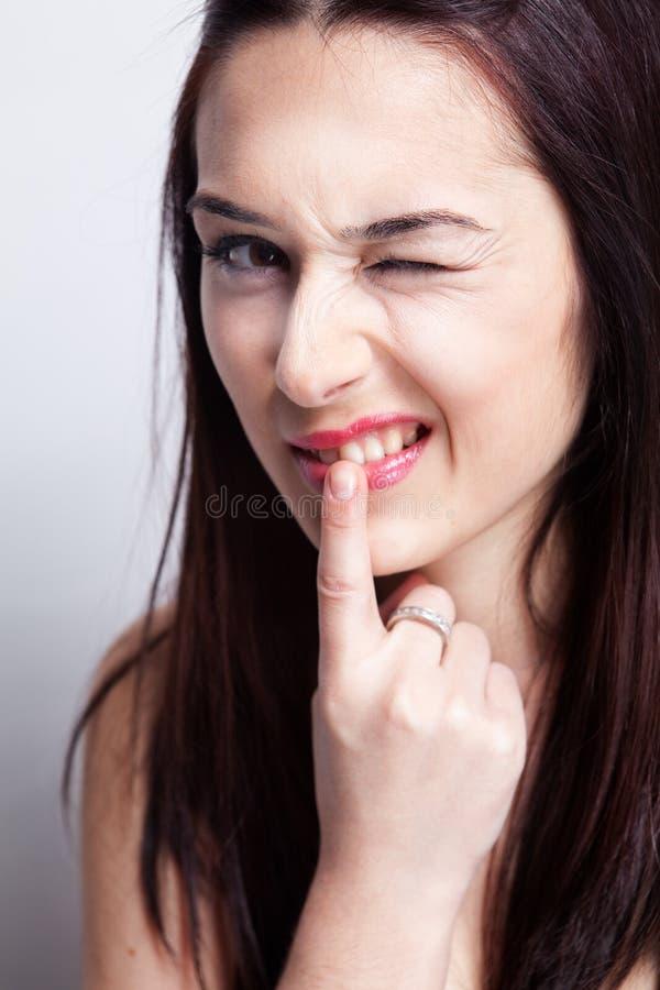 Dents et problèmes de gomme image stock