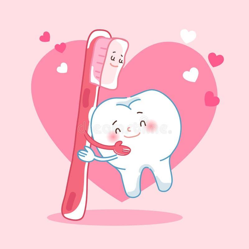 Dents et soie d'amour illustration libre de droits