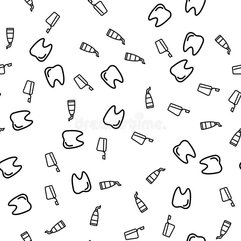 Dents nettoyant le vecteur sans couture de modèle d'équipement illustration libre de droits