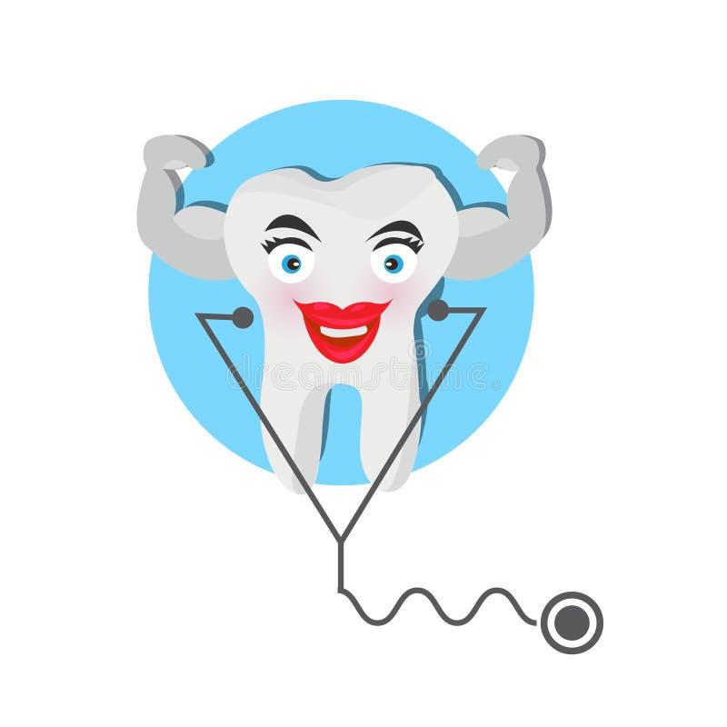 Dents saines Dents de meilleurs amis Illustration illustration de vecteur