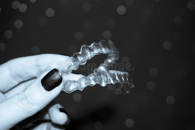Denture alignment retainer royalty free stock photo