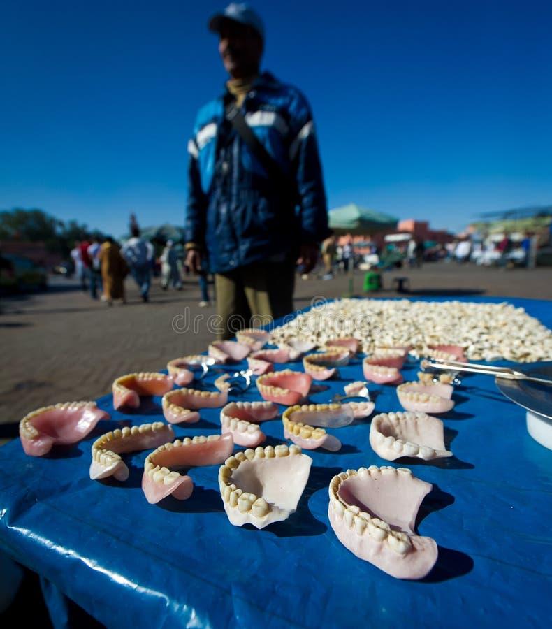 Dentures in marrakech stock images